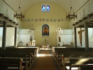 Petruskirche Blick zur Altarwand