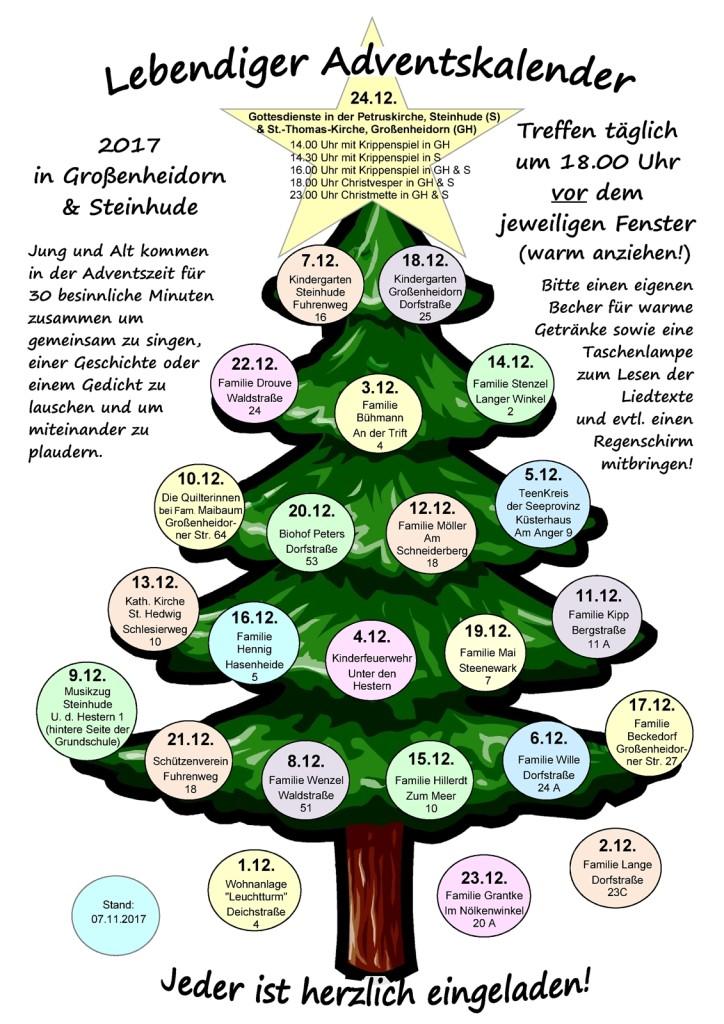 Baum Adventskalender 2017 - 07.11.2017 - kleiner