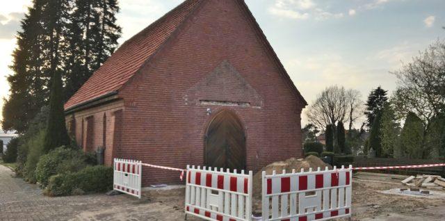 Umbauarbeiten an der Friedhofskapelle